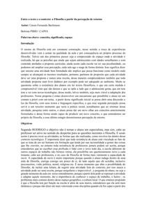 Entre o texto e o contexto: a Filosofia a partir da percepção de retorno