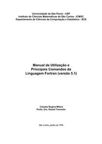 Manual de Utilização e Comandos FORTRAN USP 2006