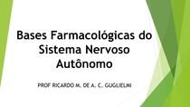 Bases Farmacológicas do SNA