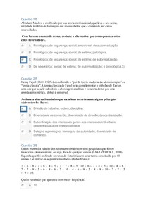 APOL 1 ESTATÍSTICA E PSICOLOGIA VOLTADA À GESTÃO ORGANIZACIONAL- NOTA 100