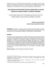 (GV Baudelaire) Uma análise da estrutura policial brasileira