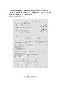 Exercicios feitos - Cálculo e diagrama de Esforço Cortante e Momento Fletor