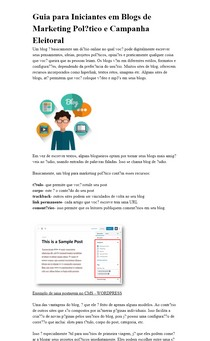 Guia para Iniciantes em Blogs de Marketing Político e Campanha Eleitoral
