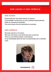 Dor aguda x dor crônica