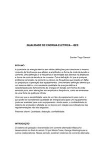 QUALIDADE DE ENERGIA ELÉTRICA SANDER