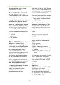 FÍSICA EXERCÍCIOS DE REVISÃO