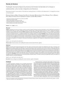 Avaliação neuropsicológica do processo de tomada de decisões em crianças e adolescentes  uma revisão integrativa da literatura