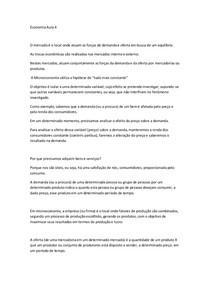 Resumo Funamentos de Economia aula 4