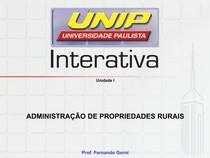Administração de propriedades Rurais - Slides de Aula Unidade I