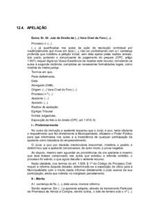 Modelo De Apelação Direito Processual Civil I