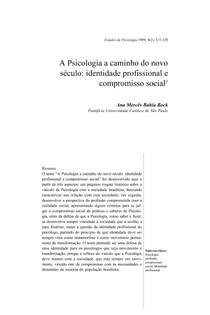 Psicologia e o novo seculo