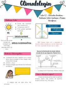 Aula 02 - Elementos climáticos - Radiação solar, Insolação e Pressão Atmosférica