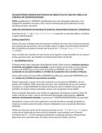 Modelo Acao De Conversao De Separacao Judicial Em Divorcio Con