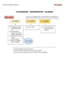 FLUXOGRAMA - PREVIDENCIARIO - DEPENDENTES E CLASSES