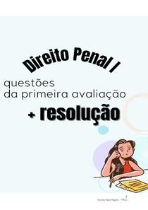 AV DE DIREITO PENAL 1 MAYANA - QUESTÕES E RESPOSTA