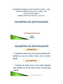 7) Volumetria de neutralização