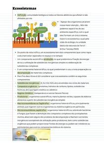 Anotações de aula - Ecossistemas e serviços ecossistêmicos