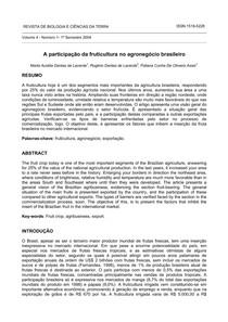 A participação da fruticultura no agronegócio brasileiro