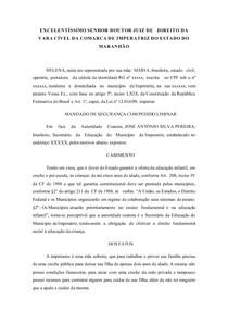 MANDADO DE SEGURANÇA - Direito Constitucional