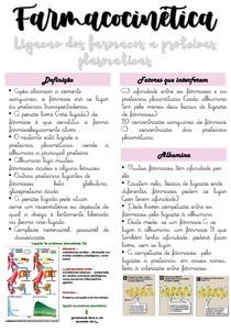 Farmacocinética - Distribuição dos fármacos