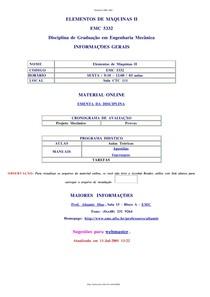 Apostila Elementos de Máquinas II - UFSC