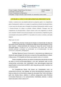 1-2 BNCC E SEUS DESAFIOS PARA IMPLEMENTAÇÃO - ATIVIDADE 1-2