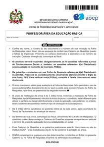 Prova Completa ACT SC Edital 1997.2018
