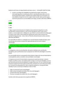 AVALIAÇÃO Parâmetros de Ensino em Língua Brasileira de Sinais 1