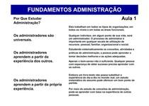 Aula 1 - Administração e seu papel [Modo de Compatibilidade]