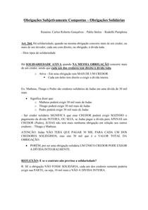 Material de Apoio 11 - Obrigações Subjetivamente Compostas [Obrigações Solidárias Ativa]