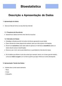 Bioestatística 02- Descrição e Apresentação de Dados