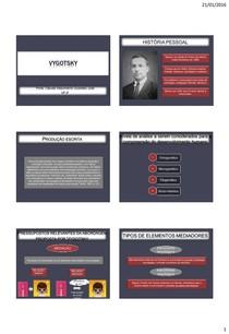 Psicologia do desenvolvimento - Vygotsky (slides)