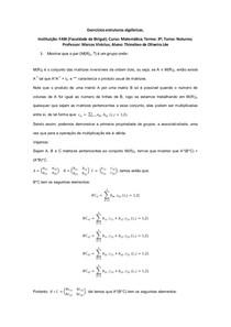 Exercícios estruturas algébricas