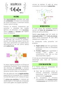 Bioquímica da Célula - Parte 2