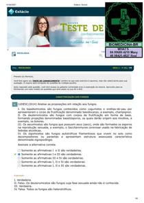 TESTES CONHEC MICOLOGIA