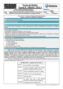 CCJ0009-WL-RA-01-TP na Narrativa Jurídica-Estrutura das Peças Processuais (27-07-2012)