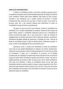 Direito ao Constraditório e Direito à Prova - TGP