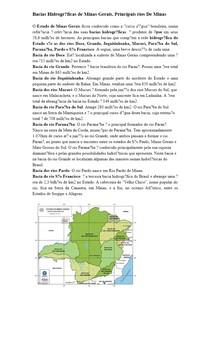 Bacias Hidrográficas de Minas Gerais. Principais rios De Minas