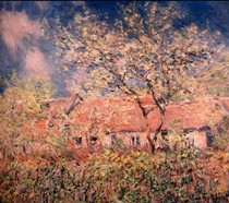 Springtime At Giverny-Claude Monet