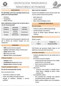 ODONTOLOGIA, TRANSPLANTE E TRANSTORNO DE IMUNIDADE