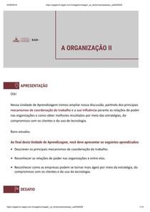 A ORGANIZAÇÃO II