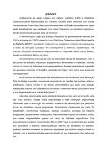 Introdução Sobre LER/DORT.