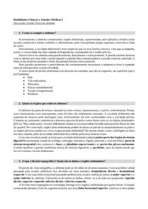 Habilidades I - Exame Físico do Abdome