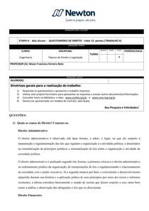 ETAPA II   Engenharia   2017.1   QUESTIONÁRIO GERAL DE DIREITO