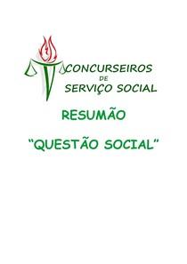 RESUMÃO QUESTÃO SOCIAL PARA CONCURSOS
