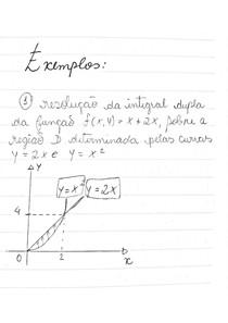 Cálculo 3 - Parte 2, Assuntos: Resolução da integral dupla da função, integral dupla de ordem dydx, Resolução da integral dupla da função x sobre a região triangular cuja a fronteira é construída pela