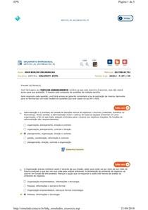 teste conhecimento orçamento empresarial aula 1