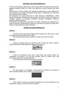 NADO BORBOLETA. HISTÓRICO, REGRAS E TÉCNICA DE NADO