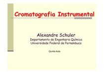 Aula 5 (Constituintes do Sistema Cromatográfico)