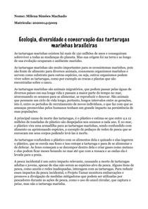 Conservação das tartarugas marinhas brasileiras
